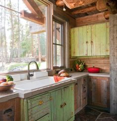 Log Cabin Kitchens Small Kitchen Designs And Country Kitchens