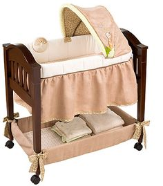 @Rebecca Lyn - our bassinet, it has giraffes on it to go with your giraffe and whale theme =)