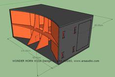 √ Skema Box WONDER Horn W218 Subwoofer Mantap - ARA AUDIO Diy Subwoofer, Subwoofer Box Design, Speaker Box Design, Woofer Speaker, Speaker Plans, Diy Speakers, Diy Box, Loudspeaker, Car Audio