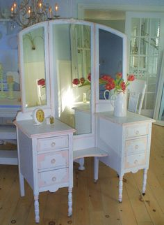 Vanity shabby chic furniture mirror by backporchco