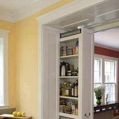 Creative hidden kitchen pullout storage