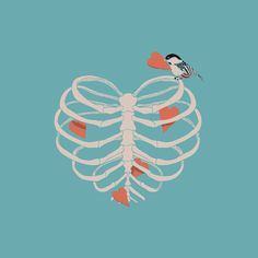 """bestof-society6: """"  ART PRINTS BY HUEBUCKET •  Daydreamer •  Your Bone •  FISH BONE •  Your Rib is an Octopus •  Grenade Garden •  Out of The Bone •  The Heart Collector •  Lifeforms Also available as..."""