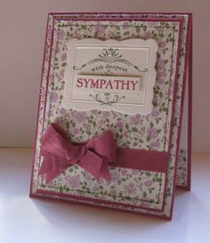 Thanks for Caring QFTD73 Sympathy Card by nancy littrell - Cards and Paper Crafts at Splitcoaststampers