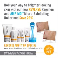 Great results for less money when you purchase AMP MD microexfoliating roller...