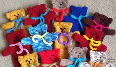 Free knitting pattern: Teddy Hand Puppet – Knit-a-square Teddy Bear Knitting Pattern, Knitted Teddy Bear, Easy Knitting Patterns, Crochet Patterns, Amigurumi Patterns, Knitting Ideas, Teddy Bears, Crochet Owl Applique, Crochet Bear