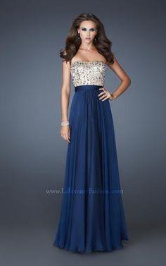 {La Femme 18801 | La Femme Fashion 2013} - La Femme Prom Dresses - Elegant - Strapless - A-line - Empire Waist - Sequins