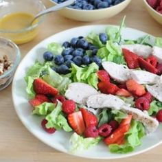Summer Berry Salad Just omit the nuts and the raspberries for Thermo.