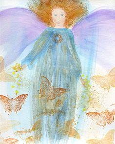 Butterfly Angel by DeborahMoresArt on Etsy