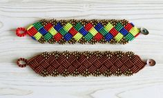 Beaded Square Macrame Bracelet | So ready to get knotting for summer!