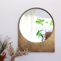 Lune Antiqued Gold Mirror | Holistic Habitat