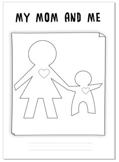 """Worksheet for Mother's Day """"My mom and me"""" by Eva Barceló Marqués Mothers Day Coloring Pages, Activities For Kids, Crafts For Kids, Wine Bottle Art, Mothers Day Crafts, Mother And Father, Kindergarten, Preschool, History"""
