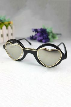 Heart Shaped Sunglasses - OASAP.com