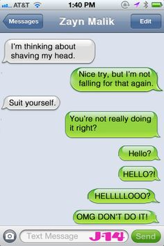 10 Imaginary Text Conversations With One Direction | J-