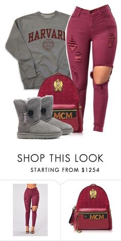 """""""12:29"""" by alexanderbianca ❤ liked on Polyvore featuring MCM and UGG"""