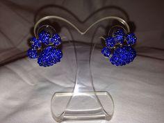Paw Print Stud Earrings (Lg)