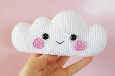 Perfect Knit Pillow Models For Baby Room – Knitting And We Crochet Gratis, Crochet Patterns Amigurumi, Crochet Motif, Crochet Toys, Crochet Baby, Cloud Mobile, Crochet Backpack, Clouds Pattern, Rainbow Crochet
