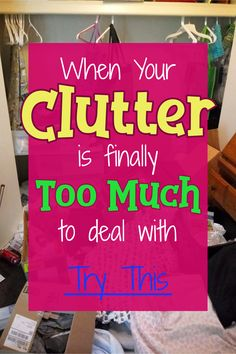 We all want to go from cluttered mess to organized success - we even join decluttering clubs and take declutter challenges - but when you're feeling overwhelmed by the clutter in your messy house, you have to START somewhere. Here's how to declutter and organize your home WITHOUT feeling overwhelmed! Deep Cleaning Tips, House Cleaning Tips, Cleaning Hacks, All You Need Is, That Way, Getting Rid Of Clutter, Getting Organized, Declutter Your Home, Organizing Your Home