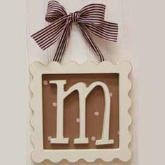 A nice way to use your wooden letters!