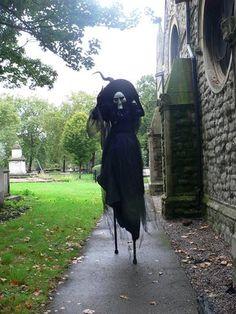 Witch Stilt Walker by Zahara #Halloween Entertainment