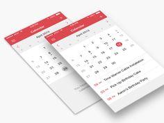 Calendar iOS 7 by Brian Plemons