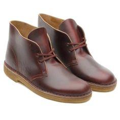 Clarks Originals Desert Boot Men's Leather Shoes Style 66304 Burgundy Horween