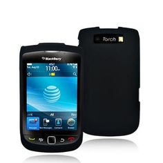 Black Rubberized Snap-On Hard Skin Case Cover for Blackberry Torch 9800 Phone by Electromaster $0.05