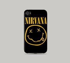 Nirvana Smiley printed Plastic Hard Case iphone 5/5s by desPaleta, $16.99
