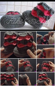 18 Ideas For Crochet Baby Shoes Tutorial Crocodile Stitch – Baby For look here Baby Boy Crochet Blanket, Crochet Baby Boots, Crochet Toddler, Crochet Bebe, Booties Crochet, Crochet Slippers, Crochet For Kids, Baby Booties, Knit Crochet