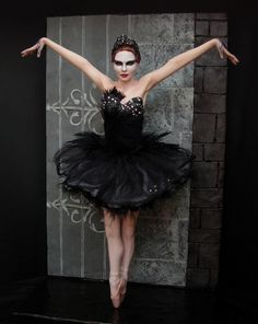 Nina as the Black Swan from Black Swan by Renata Jansen One of a Kind OOAK 3D Paintings in Clay - Polymer Sculptures