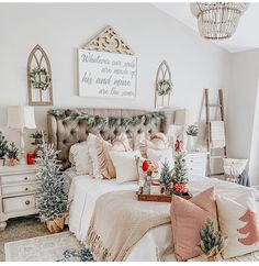 Image may contain: table and indoor Christmas Decorations For The Home, Christmas Home, Let Freedom Ring, Country Style, House Tours, Fall Decor, Gallery Wall, Indoor, Pillows