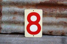 Vintage  Metal Number 8 or Number 4 Double by TheOldTimeJunkShop, $25.00