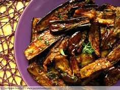 Marinated Eggplant with Garlic & Herbs, by The Purple Foodie