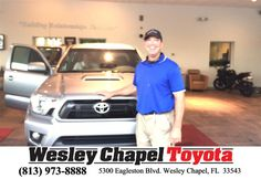 STEVE BLANK AND RICH JACKSON WERE AWESOME.....HIGHLY RECOMMEND THEM WHEN SHOPPING FOR A TOYOTA - MARTIN DARYL,  Sunday, May 03, 2015  http://www.wesleychapeltoyota.com/?utm_source=Flickr&utm_medium=DMaxxPhoto&utm_campaign=DeliveryMaxx