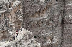Italy. Dolomites hike. Via Ferrata