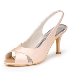 Satin  Wedding Stiletto Sandals(More Colors) – CAD $ 69.49
