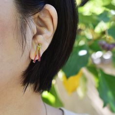#enamel #earrings by #joidart