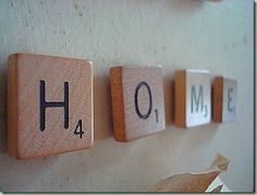 home scrabble magnets!