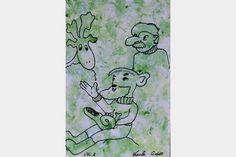 "Artmoney - unique piece of art doubling as a gift card ""Green money 2"""
