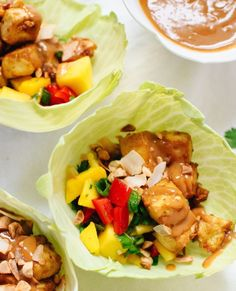 Thai mango cabbage wraps recipe from Cookie and Kate