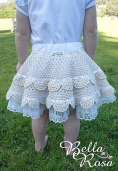Tahlia Ecru Crochet Doily Skirt--inspiration