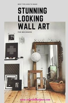 How to make stunning wall art with your own collections and update your wall decor easy. Easy tips how to make a new look fast and a little different.