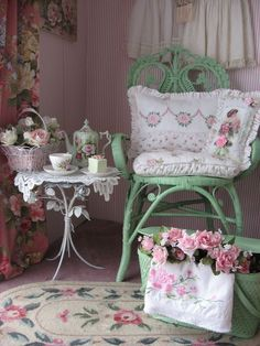 Shabby Chic - so relaxing.  Makes you want to curl up with a good book.