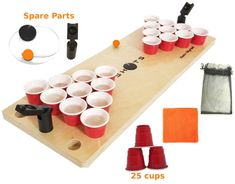 Mini Beer Juice Pong Game SHOTS Fun CLASSIC DRINKING Board Games for Adults Kids