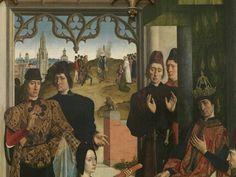 La justice de l'empereur Otton : L'épreuve du feu, vers 1460 Dirk Bouts Détail