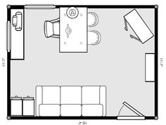 home office design floor plans - Home Office Plans Layouts