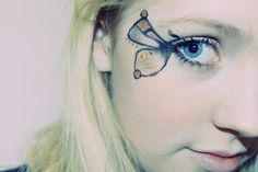 Some theatrical eye makeup designed for party-going and/or halloween! :)