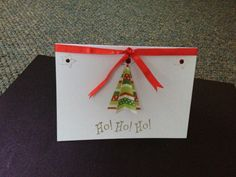 Christmas card, handmade paper crafts.