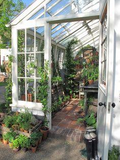 Dans mon Jardin d'Hiver…   Shabby Chic Mania by Grazia Maiolino #conservatorygreenhouse