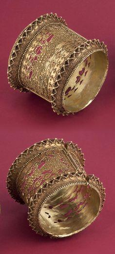Indonesia ~ Bugis   Pair of bracelets; gold   18th century     {GPA}
