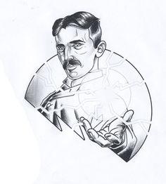 Tesla design Im currently working on. Tesla Design, an dem ich gerade arbeite. Nikola Tesla, Arm Tattoos, Sleeve Tattoos, Tatoos, Physical Science, Science Fair, Different Tattoos, Physicist, Tattoo Sleeve Designs